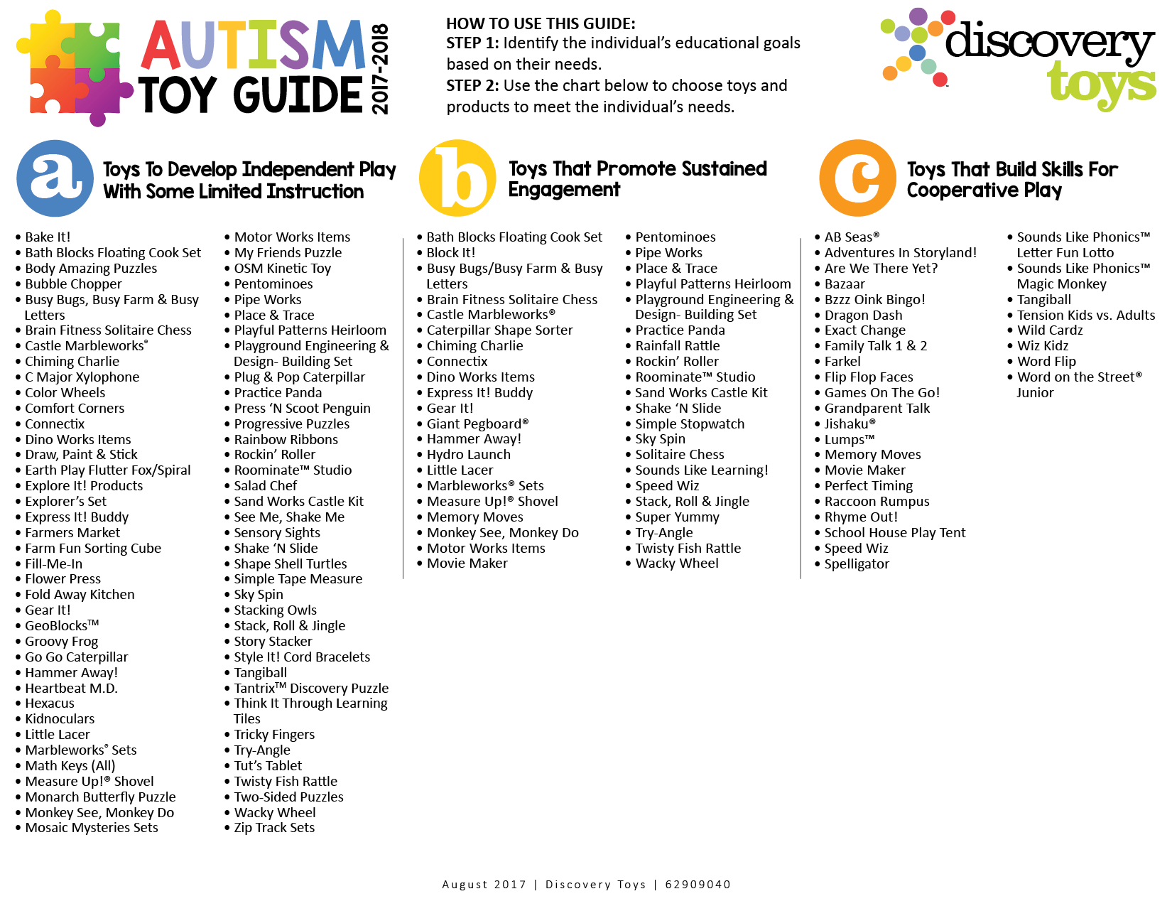 Autism Toy Guide – Discovery Toys