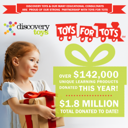 Discovery Toys Gives Back | Proud Partner of Toys For Tots